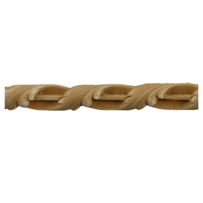 "3/8""(H) x 3/16""(Relief) - Interior Linear Moulding - Leaf Rope Design - [Compo Material]-Brockwell Incorporated"