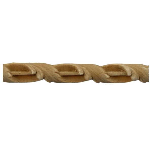 "3/8""(H) x 3/16""(Relief) - Interior Linear Moulding - Floral Rope Design - [Compo Material]-Brockwell Incorporated"
