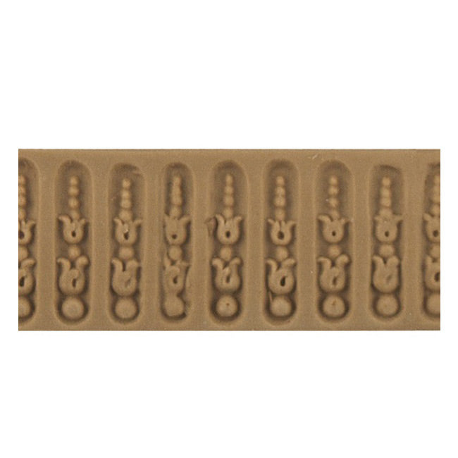 "ColumnsDirect.com - 1""(H) x 1/16""(Relief) - Interior Linear Moulding - Louis XVI Fluted Design - [Compo Material]"
