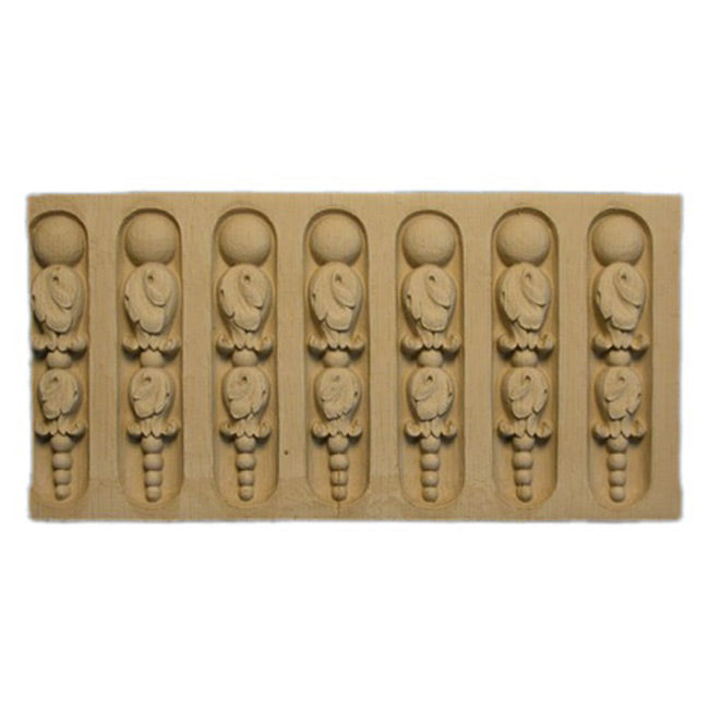 "ColumnsDirect.com - 3-1/4""(H) x 1/4""(Relief) - Stain-Grade Linear Moulding - Louis XVI Fluted Design - [Compo Material]"