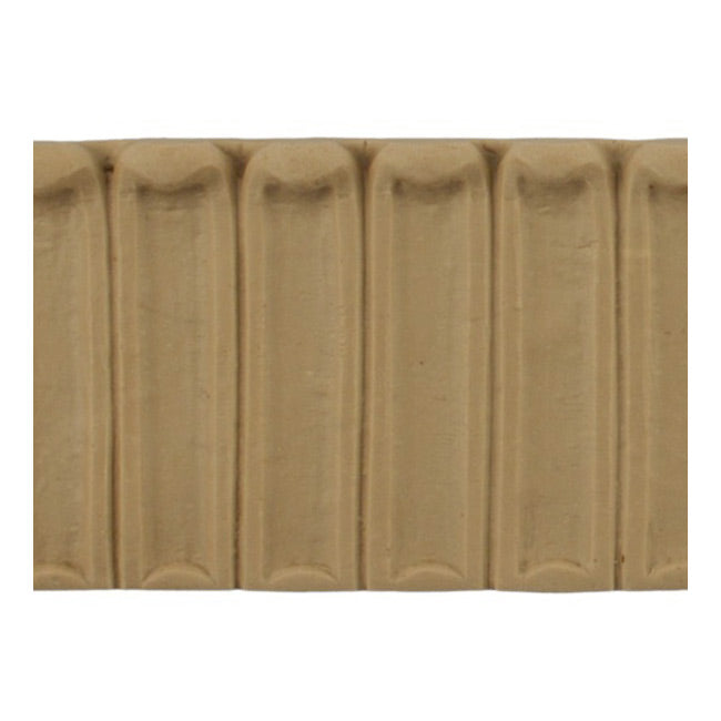 "ColumnsDirect.com - 2""(H) x 5/16""(Relief) - Fluted Linear Molding - Stain-Grade Colonial Design - [Compo Material]"