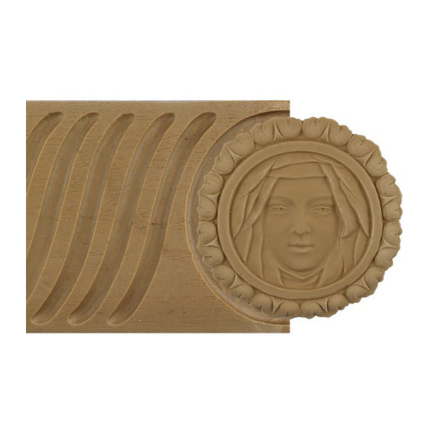 "ColumnsDirect.com - 4-1/8""(H) x 5/16""(Relief) - Colonial Linear Molding - Fluted Panel w/ Faces Design - [Compo Material]"