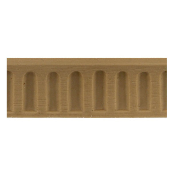 "ColumnsDirect.com - 7/8""(H) x 1/4""(Relief) - Stainable Linear Moulding - Colonial Fluted Design - [Compo Material]"