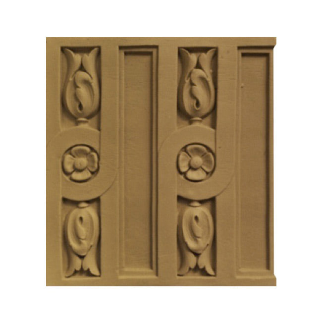 "ColumnsDirect.com - 6-5/8""(H) x 5/16""(Relief) - Specialty Linear Moulding - Louis XVI Fluted Design - [Compo Material]"