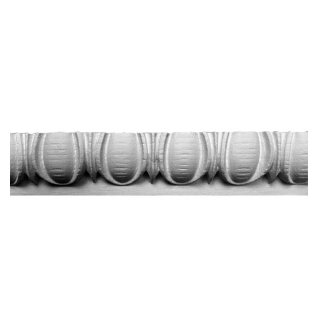 "1-3/4""(H) x 3/4""(Relief) - Greek Egg & Dart Panel Molding Design - [Plaster Material] - Brockwell Incorporated"