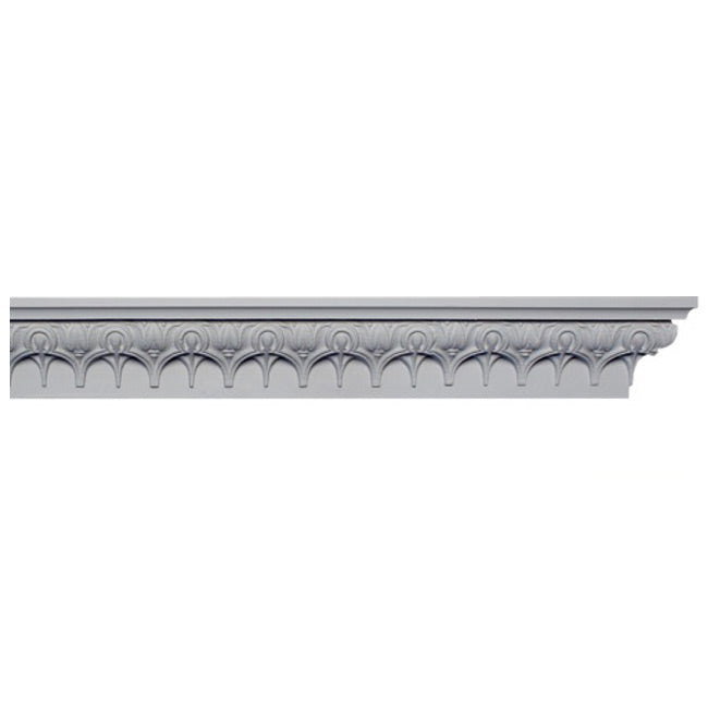 "3""(H) x 2""(Relief) - Italian Renaissance Lamb's Tongue Frieze Molding Design - [Plaster Material] - Brockwell Incorporated"