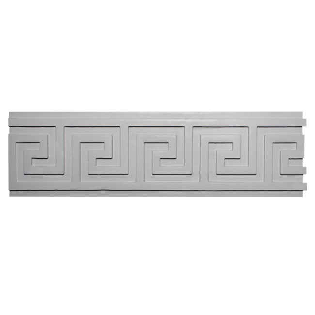 "9""(H) x 7/8""(Proj.) - Greek Key Frieze Molding Design - [Plaster Material] - Brockwell Incorporated"