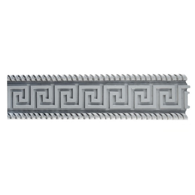 "4""(H) x 5/8""(Relief) - Greek Key Frieze Molding Design - [Plaster Material] - Brockwell Incorporated"