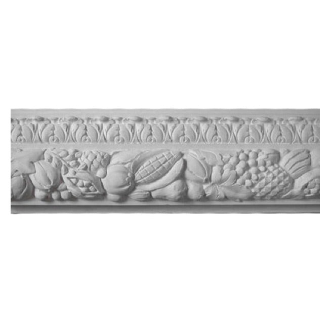 "8""(H) x 2""(Relief) - Fruit Frieze Molding Design - [Plaster Material] - Brockwell Incorporated"