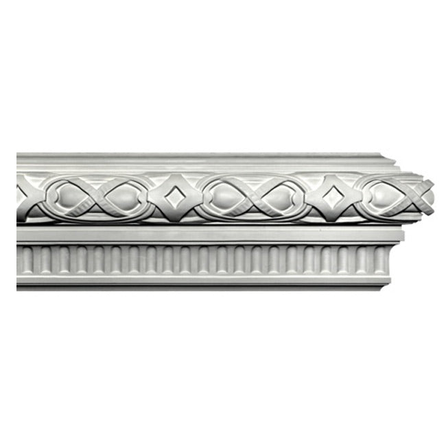 "9""(H) x 3""(Proj.) - Modern German Style Frieze Molding Design - [Plaster Material] - Brockwell Incorporated"