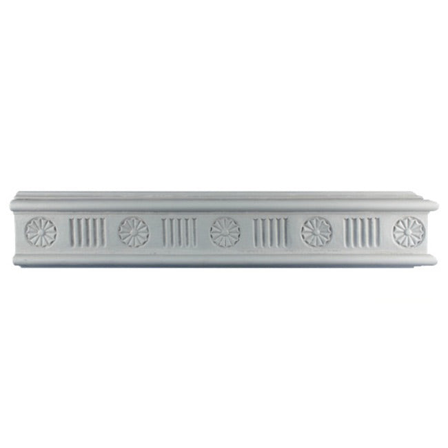 "3-1/2""(H) x 7/8""(Proj.) - Adam's Style Frieze Molding Design - [Plaster Material] - Brockwell Incorporated"