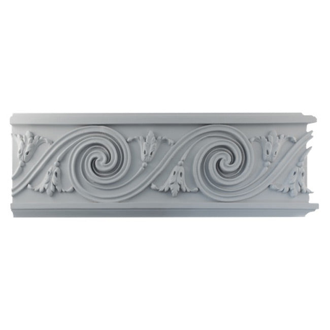 "7""(H) x 7/8""(Relief) - Louis XVI Frieze Molding Design - [Plaster Material] - Brockwell Incorporated"