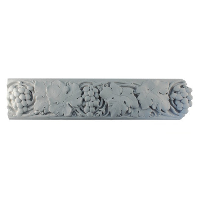 "5""(H) x 1""(Relief) - Grapevine Frieze Molding Design - [Plaster Material] - Brockwell Incorporated"