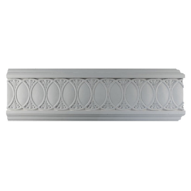 "6""(H) x 3/4""(Proj.) - Repeat: 3-5/8"" - Roman Frieze Molding Design - [Plaster Material] - Brockwell Incorporated"