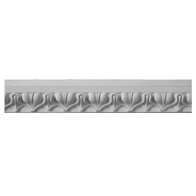 "2-3/4""(H) x 1-1/8""(Relief) - Italian Lamb's Tongue Frieze Molding Design - [Plaster Material] - Brockwell Incorporated"