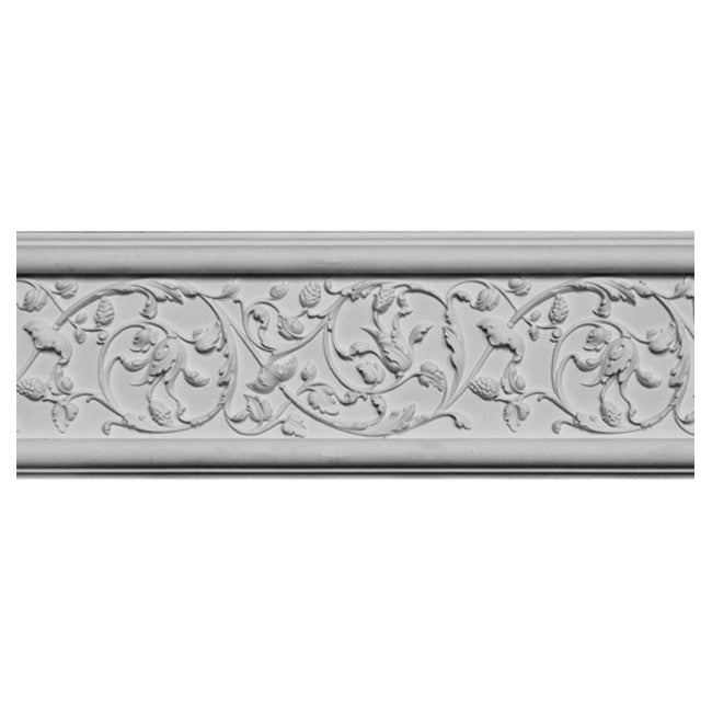 "6-1/8""(H) x 1-1/8""(Relief) - Rinceau Style Frieze Molding Design - [Plaster Material] - Brockwell Incorporated"