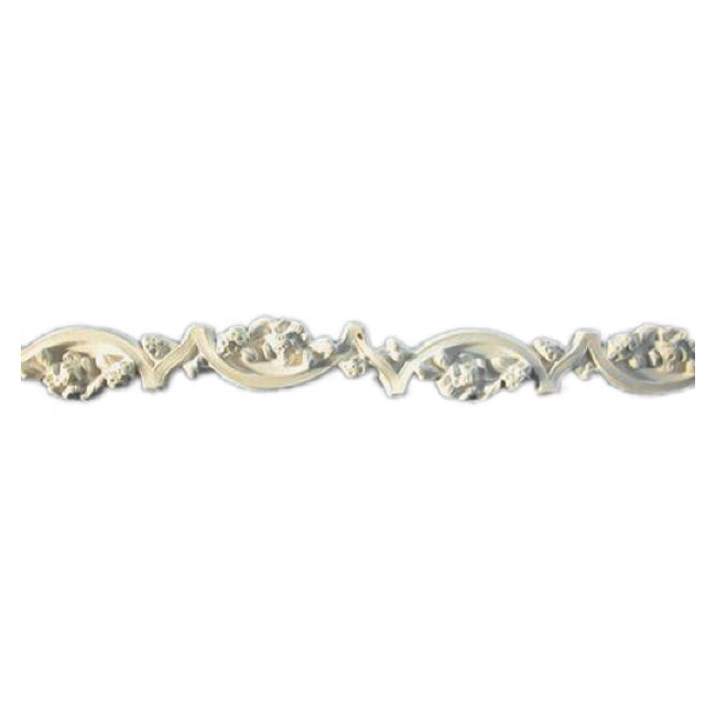"1-3/4""(H) x 1/2""(Relief) - Floral Panel Molding Design - [Plaster Material] - Brockwell Incorporated"