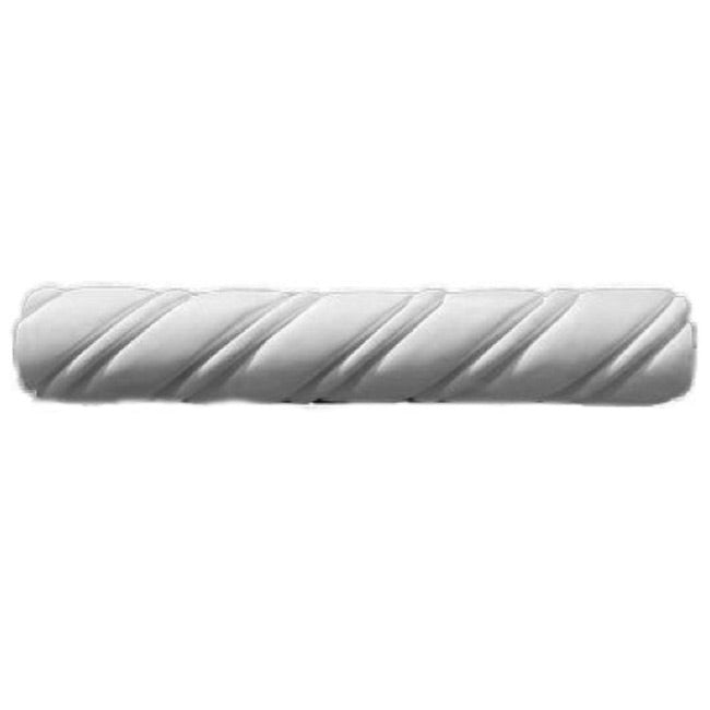 "3-1/2""(H) x 1-7/8""(Proj.) - Spanish Style Rope Molding Design - [Plaster Material] - Brockwell Incorporated"