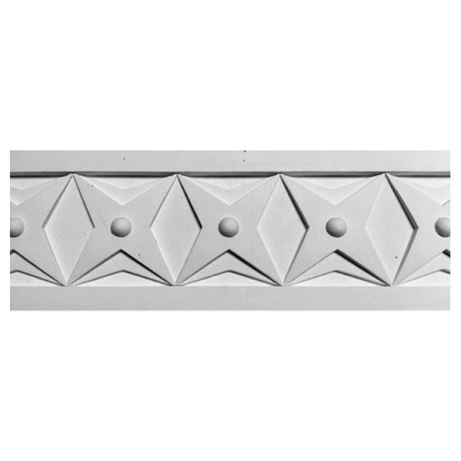 "4""(H) x 1/2""(Relief) - Art Deco Frieze Molding Design - [Plaster Material] - Brockwell Incorporated"