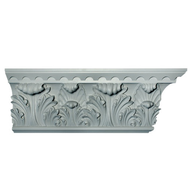 "12""(H) x 3-1/2""(Proj.) - Repeat: 14"" - Romanesque Frieze Molding Design - [Plaster Material] - Brockwell Incorporated"