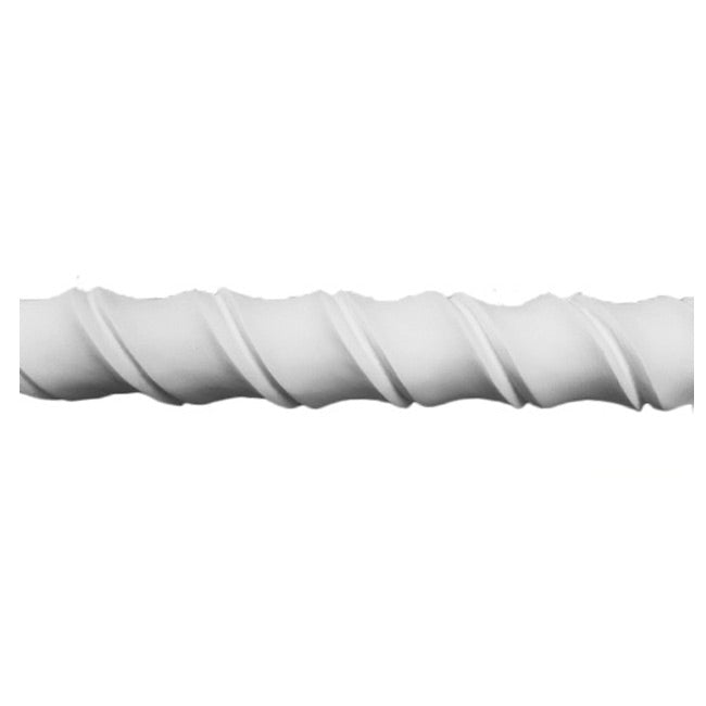 "1-1/2""(H) x 7/8""(Relief) - Decorative Rope Molding Design - [Plaster Material] - Brockwell Incorporated"