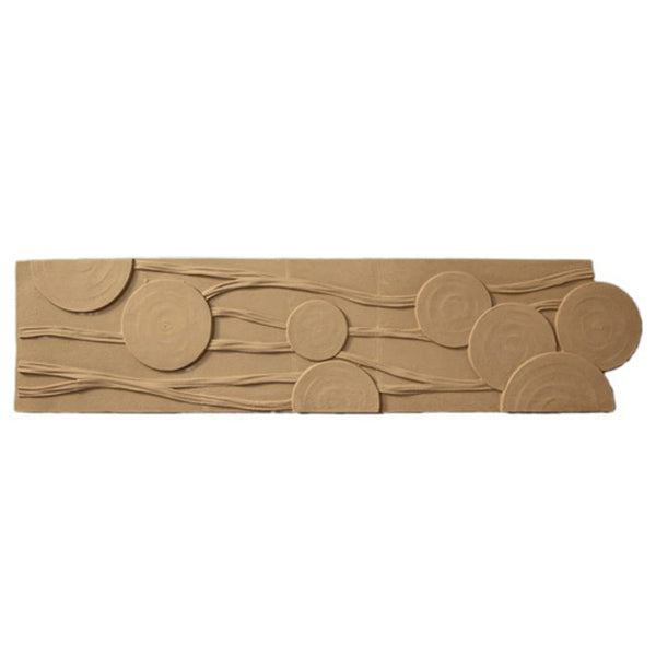 "5""(H) x 1/4""(Relief) - Cast Width: 38"" - Interior Linear Moulding - Modern Geometric Design - [Compo Material] - Brockwell Incorporated"