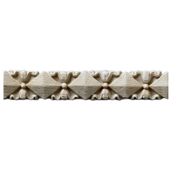 "3/4""(H) x 3/16""(Relief) - Stainable Linear Molding - Flemish Specialty Geometric Design - [Compo Material] - Brockwell Incorporated"