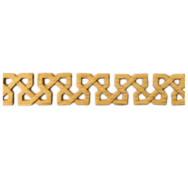 "7/8""(H) x 1/8""(Relief) - Stainable Linear Molding - Celtic Knot Geometric Design - [Compo Material] - Brockwell Incorporated"