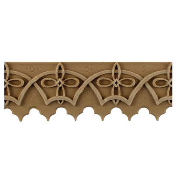 "2-3/4""(H) x 1/4""(Relief) - Stainable Linear Molding - Moorish Tracery Geometric Design - [Compo Material] - Brockwell Incorporated"