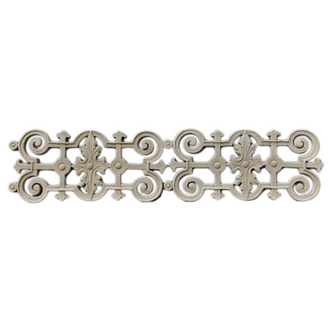 "3-3/4""(H) x 3/16""(Relief) - Linear Moulding - Elizabethan Geometric Design - [Compo Material] - Brockwell Incorporated"