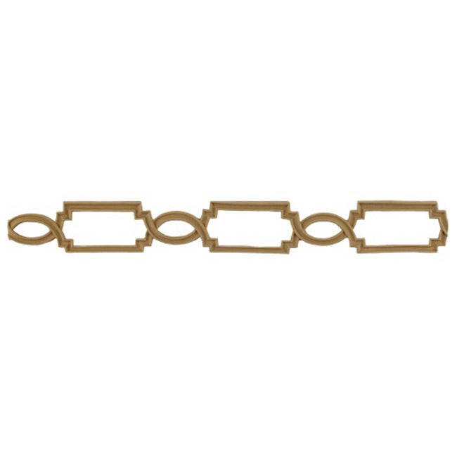 "1-11/16""(H) x 1/8""(Relief) - Linear Moulding - Elizabethan Chain Link Design - [Compo Material] - Brockwell Incorporated"