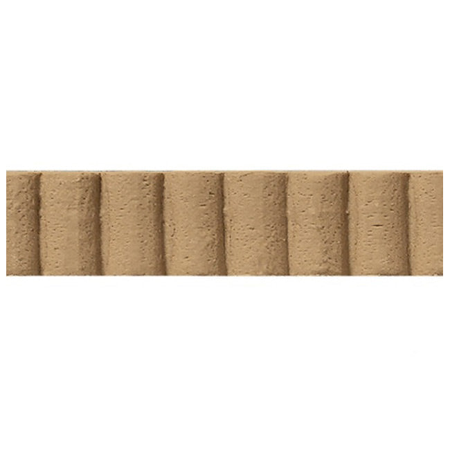 "7/16""(H) x 3/16""(Relief) - Linear Moulding - Art Deco Fluted Geometric Design - [Compo Material] - Brockwell Incorporated"