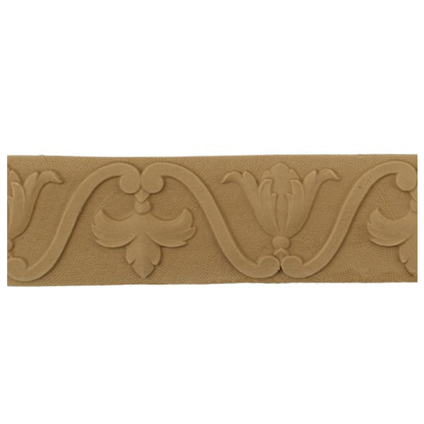 "2-1/8""(H) x 3/16""(Relief) - Linear Moulding - Renaissance Geometric Design - [Compo Material] - Brockwell Incorporated"