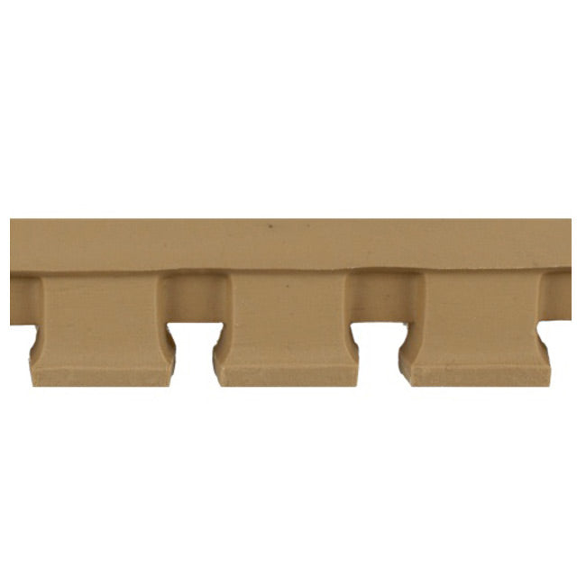 "1-1/2""(H) x 5/8""(Relief) - Modern Dentil Geometric Linear Molding Design - [Compo Material] - Brockwell Incorporated"
