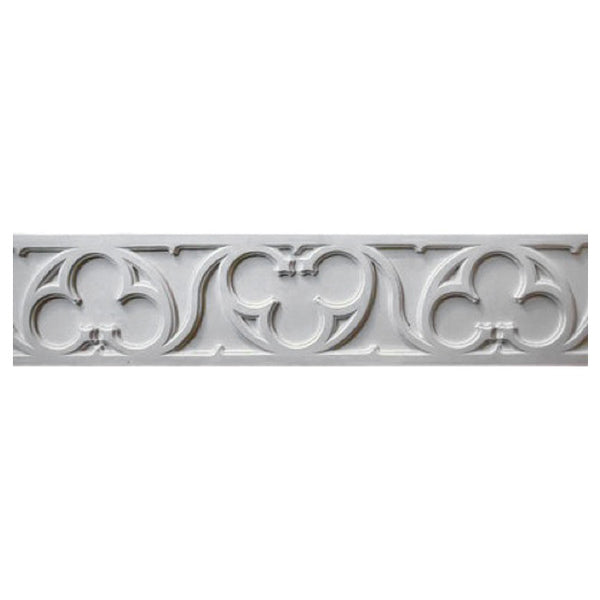 "8-1/2""(H) x 3/8""(Relief) - Repeat: 24-1/8"" - Interior Linear Moulding - Gothic Frieze Design - [Compo Material] - Brockwell Incorporated"
