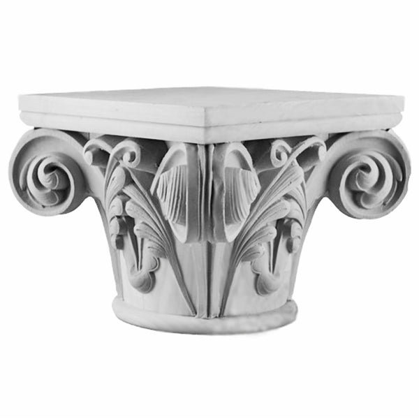 Gothic Notre Dame Round Plaster Decorative Column Capital Design - Brockwell Incorporated
