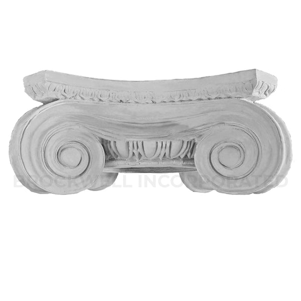 Greek Angular Ionic Plaster Round Column Capital - Classical Architectural Products