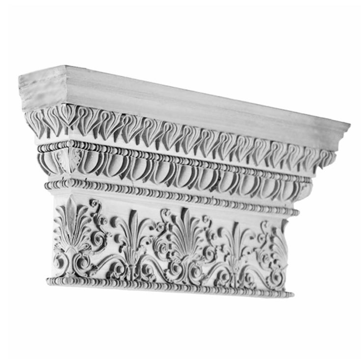 Specialty Capital (Greek Antae w/ Necking) - PILASTER CAP - [Plaster Material] - Brockwell Incorporated