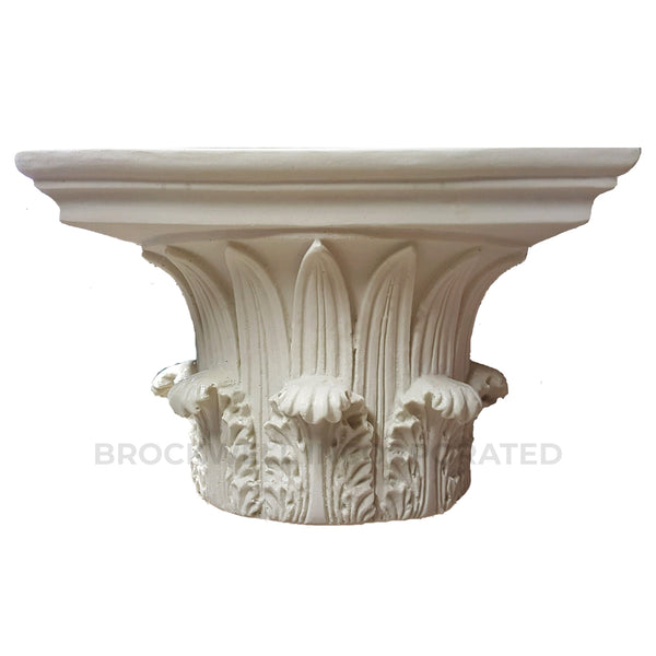 "Greek Corinthian - ""Temple of the Winds"" Round Plaster Column Capital from Brockwell Incorporated"