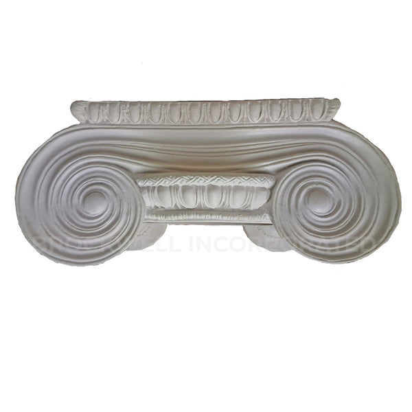 Greek Erechtheum Plaster Column Capital - Round Shape - Sits On Top | Brockwell Incorporated