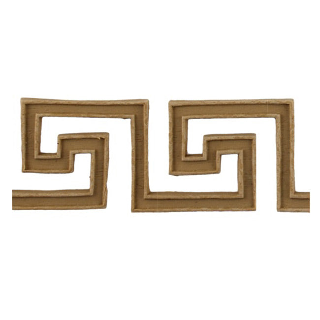 "Where to Buy 1-9/16""(H) x 3/16""(Relief) - Stain-Grade Greek Key Linear Molding Design - [Compo Material]"