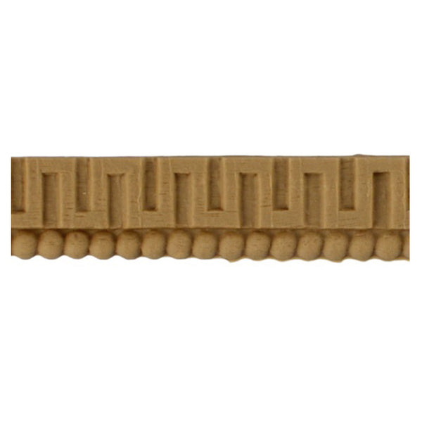 "Where to Buy 3/4""(H) x 1/8""(Relief) - Greek Key Stain-Grade Interior Linear Molding Design - [Compo Material]"