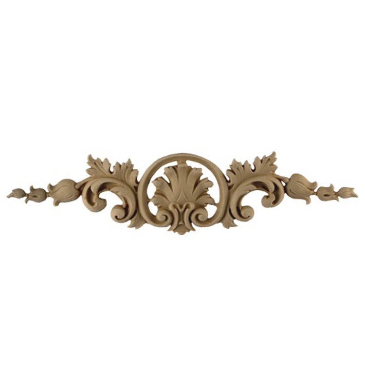"Shop Beautiful 13-1/4""(W) x 3-1/4""(H) x 3/8""(Relief) - Louis XV Floral Horizontal Design - [Compo Material]-HRZ-0277-CP-2"