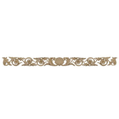 "Shop Beautiful 51-1/2""(W) x 4""(H) x 3/8""(Relief) - Shell w/ Scrolls Horizontal Design - [Compo Material]-HRZ-4677-CP-2"
