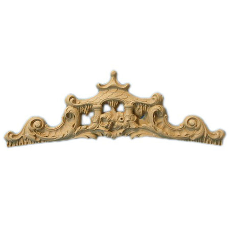 "Shop Beautiful 5-3/4""(W) x 2-1/4""(H) - Oriental Style w/ Pagoda Decorative Horizontal Design - [Compo Material]-HRZ-F036-CP-2"