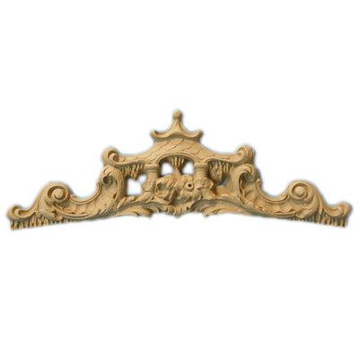 "Shop Beautiful 9""(W) x 3-1/4""(H) - Oriental Style w/ Pagoda Decorative Horizontal Design - [Compo Material]-HRZ-F136-CP-2"