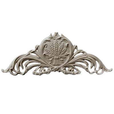 "Shop Beautiful 6-1/4""(W) x 2-1/2""(H) - Wheat Stain-Grade Decorative Horizontal Design - [Compo Material]-HRZ-F6421-CP-2"
