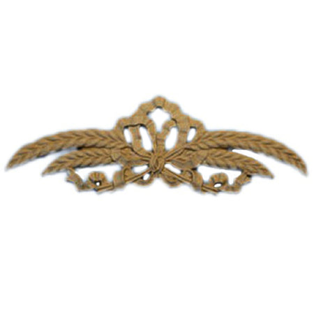 "Shop Beautiful 8""(W) x 2-1/2""(H) - Wheat & Ribbon Decorative Horizontal Design - [Compo Material]-HRZ-F4521-CP-2"