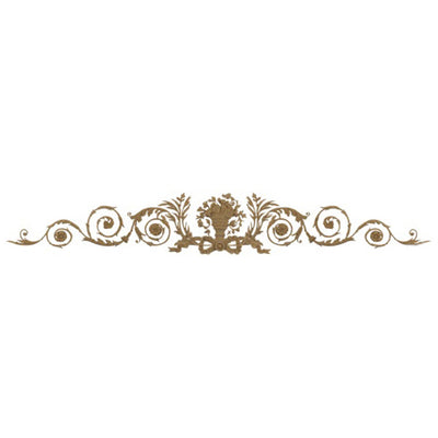 "Shop Beautiful 70""(W) x 11-1/2""(H) x 3/8""(Relief) - Floral Urn w/ Branches & Scrolls Horizontal Design - [Compo Material]-HRZ-2375-CP-2"