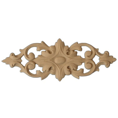 "Shop Beautiful 5-3/8""(W) x 2""(H) - Stain-Grade Floral Horizontal Design - [Compo Material]-HRZ-F2706-CP-2"